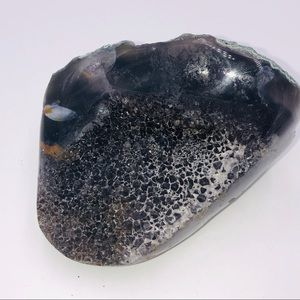 Agate druzy crystal
